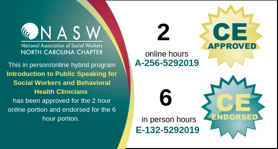 Introduction to Public Speaking for Social Workers and Behavioral Health Clinicians